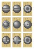 έκδοση βιδών καπέλων απεικόνιση αποθεμάτων