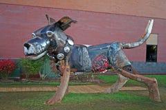 Έκθεμα τέχνης ενός σκυλιού στοκ φωτογραφία