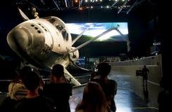 Έκθεμα Atlantis διαστημικών λεωφορείων Στοκ εικόνες με δικαίωμα ελεύθερης χρήσης