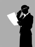 Έκθεση ανάγνωσης επιχειρηματιών Στοκ Εικόνα