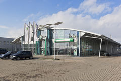 Έκθεση αυτοκινήτου Autolycus - επίσημος έμπορος Skoda στην πόλη Vologda, Ρωσία στοκ φωτογραφία με δικαίωμα ελεύθερης χρήσης