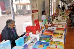Έκθεση βιβλίων στο Brescia ` Librixia ` untranslatable Μεγάλη και μικρή επίδειξη βιβλιοπωλείων τα καλύτερα βιβλία τους Στοκ φωτογραφίες με δικαίωμα ελεύθερης χρήσης