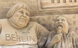 Έκθεση γλυπτών άμμου Στοκ εικόνα με δικαίωμα ελεύθερης χρήσης