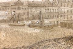 Έκθεση γλυπτών άμμου Στοκ φωτογραφία με δικαίωμα ελεύθερης χρήσης