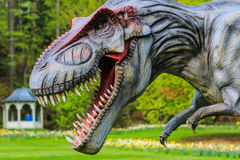 Έκθεση δεινοσαύρων στο βοτανικό πάρκο Στοκ Εικόνες