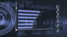 Έκθεση διαγραμμάτων αύξησης οικονομίας διανυσματική απεικόνιση
