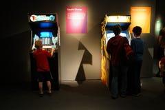 Έκθεση 15 κλασικών Arcade Στοκ Φωτογραφία