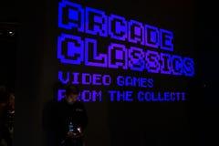 Έκθεση 6 κλασικών Arcade Στοκ Εικόνες