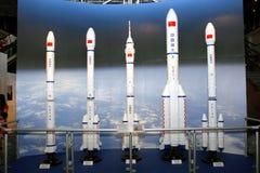 Έκθεση στον επανδρωμένο διαστημικό ελλιμενισμό Missio της Κίνας Στοκ Εικόνες