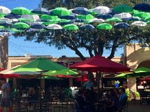 Έκθεση του Ντάλλας που διακοσμείται με τις ομπρέλες Στοκ εικόνα με δικαίωμα ελεύθερης χρήσης
