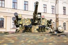 Έκθεση του στρατιωτικού εξοπλισμού στο Κίεβο Στοκ Φωτογραφίες