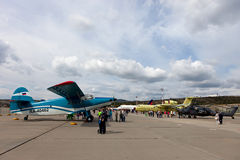 Έκθεση των αεροσκαφών σε Gidroaviasalon 2016, Ρωσία Στοκ Φωτογραφία