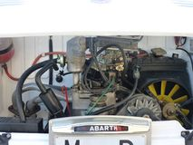 Έκθεση των εκλεκτής ποιότητας αυτοκινήτων, στις 24 Φεβρουαρίου 2018 Talavera de Λα Reina, Ισπανία, λεπτομέρεια μιας παλαιάς μηχαν στοκ φωτογραφίες με δικαίωμα ελεύθερης χρήσης