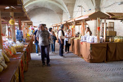 Έκθεση των ζυμαρικών στην Ιταλία Στοκ Φωτογραφία