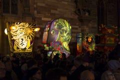 Έκθεση φαναριών της Βασιλείας καρναβάλι 2017 Στοκ Εικόνες