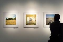 Έκθεση φωτογραφίας με μια στάση προσώπων Στοκ φωτογραφίες με δικαίωμα ελεύθερης χρήσης