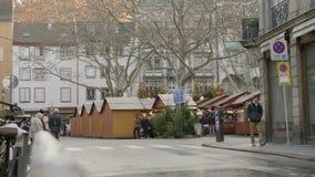 Έκθεση Χριστουγέννων στο Στρασβούργο απόθεμα βίντεο