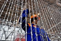 Έκθεση MosBuild 2012, 11 Απριλίου, 2012, Μόσχα, Ρωσία Στοκ Εικόνα