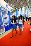 Έκθεση MosBuild 2012, 11 Απριλίου, 2012, Μόσχα, Ρωσία Στοκ φωτογραφία με δικαίωμα ελεύθερης χρήσης