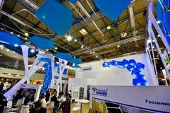 Έκθεση MosBuild 2012, 11 Απριλίου, 2012, Μόσχα, Ρωσία Στοκ εικόνα με δικαίωμα ελεύθερης χρήσης