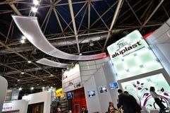 Έκθεση MosBuild 2012, 11 Απριλίου, 2012, Μόσχα, Ρωσία Στοκ φωτογραφίες με δικαίωμα ελεύθερης χρήσης