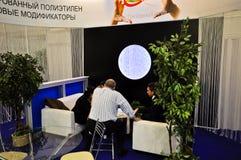 Έκθεση MosBuild 2012, 11 Απριλίου, 2012, Μόσχα, Ρωσία Στοκ Εικόνες