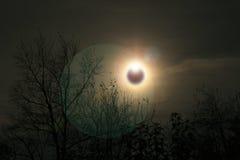 έκλειψη ηλιακή Στοκ Εικόνα