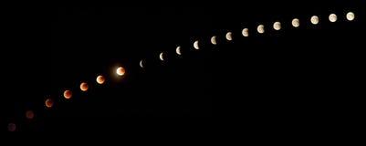 έκλειψη σεληνιακή Στοκ φωτογραφία με δικαίωμα ελεύθερης χρήσης