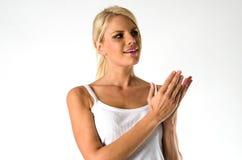 Έκπληκτη όμορφη γυναίκα Στοκ εικόνα με δικαίωμα ελεύθερης χρήσης
