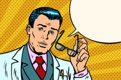 Έκπληκτος γιατρός ή επιστήμονας ατόμων απεικόνιση αποθεμάτων