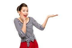 Έκπληκτος καρφίτσα-επάνω στο κορίτσι Στοκ φωτογραφίες με δικαίωμα ελεύθερης χρήσης