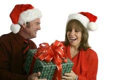 έκπληξη δώρων Χριστουγέννων στοκ φωτογραφία με δικαίωμα ελεύθερης χρήσης