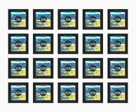 Έκπτωση 5 έως 99 τοις εκατό Έκπτωση καρτών Στοκ Εικόνες