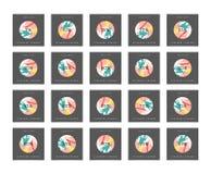Έκπτωση 5 έως 99 τοις εκατό Έκπτωση καρτών Στοκ εικόνα με δικαίωμα ελεύθερης χρήσης