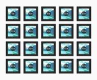 Έκπτωση 5 έως 99 τοις εκατό Έκπτωση καρτών Στοκ εικόνες με δικαίωμα ελεύθερης χρήσης
