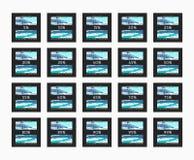 Έκπτωση 5 έως 99 τοις εκατό Έκπτωση καρτών Στοκ Εικόνα