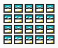 Έκπτωση 5 έως 99 τοις εκατό Έκπτωση καρτών διανυσματική απεικόνιση