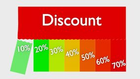 Έκπτωση ή πώληση Στοκ εικόνες με δικαίωμα ελεύθερης χρήσης