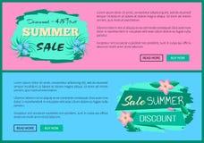 Έκπτωση 45 από την ετικέτα διαφημίσεων θερινής πώλησης Απεικόνιση αποθεμάτων