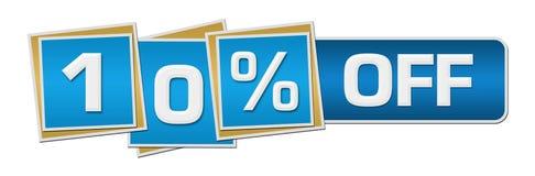 Έκπτωση δέκα τοις εκατό από τον μπλε φραγμό τετραγώνων Στοκ φωτογραφία με δικαίωμα ελεύθερης χρήσης