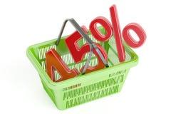 Έκπτωση και πώληση 45% έννοια, τρισδιάστατη απόδοση Στοκ Εικόνα