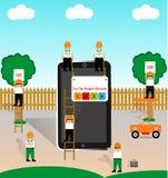 Έκπτωση στα κινητά προϊόντα επίσης corel σύρετε το διάνυσμα απεικόνισης διανυσματική απεικόνιση