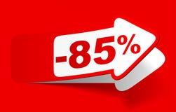 Έκπτωση 85 τοις εκατό - απόθεμα Διανυσματική απεικόνιση