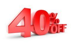 έκπτωση 40 τοις εκατό απεικόνιση αποθεμάτων