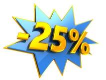 έκπτωση 25 τοις εκατό Στοκ Εικόνες