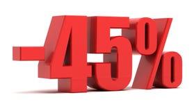 έκπτωση 45 τοις εκατό Στοκ Εικόνες