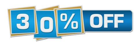 Έκπτωση τριάντα τοις εκατό από τον μπλε φραγμό τετραγώνων Στοκ Φωτογραφία