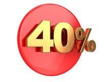 Έκπτωση 40 τοις εκατό Στοκ Φωτογραφία