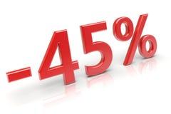 έκπτωση 45% Στοκ Εικόνες