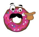 Έκπληκτα doughnut κινούμενα σχέδια Στοκ Φωτογραφία